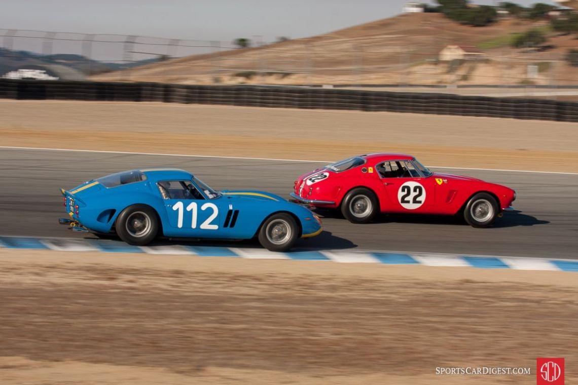 Ferrari 250 GTO and Ferrari 250 GT SWB Berlinetta at the Monterey Motorsports Reunion (photo: Victor Varela)