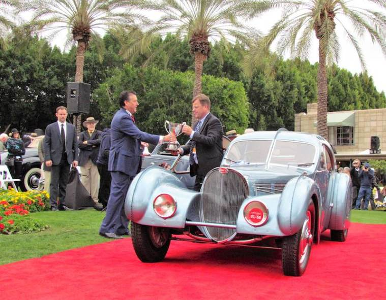Bugatti Atlantic gets its award - Larry Edsall