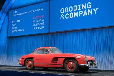 1955 Mercedes-Benz 300 SL Gullwing sold for $1,457,500 (photo: Jensen Sutta)