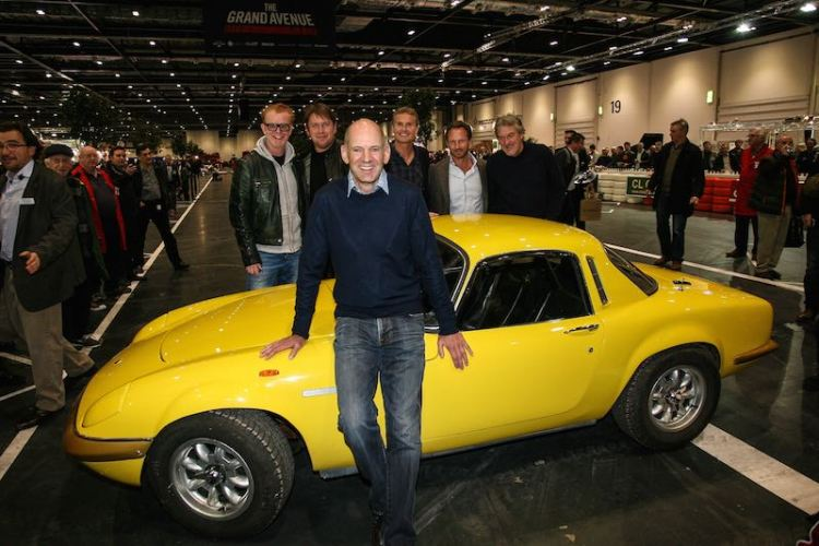 Adrian Newey reunited with the father's old Lotus Elan
