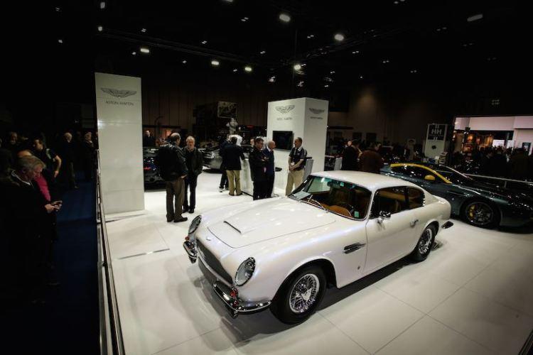Aston Martin display at the London Classic Car Show