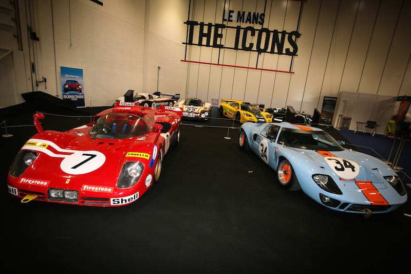 Le Mans icons on display