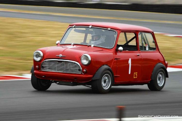 Brian Waters' 1960 Mini Cooper at Portland Historic Races 2015