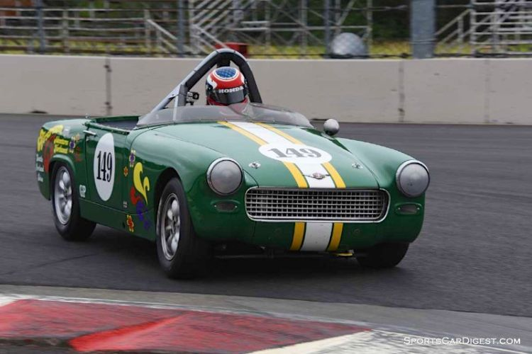 Parker Johnstone's 1967 Austin Healey Sprite during  Portland Historic Races 2015