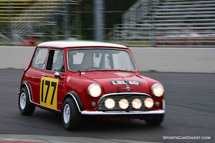 Dennis Racine's 1966 Mini Cooper S at Portland Historic Races 2015
