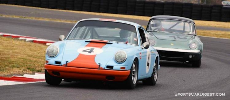Steve Gilmore's 1967 Porsche 911 during Portland Historic Races 2015