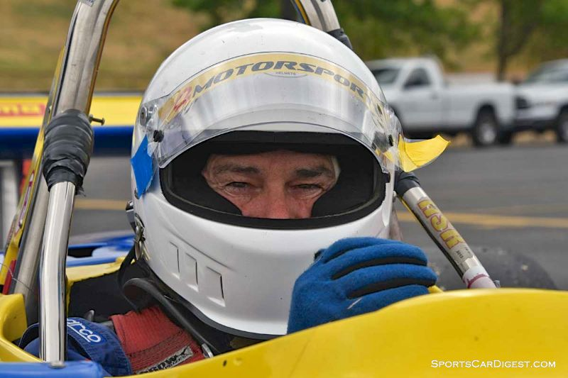 Robert Merritt inside the 1985 Ralt RT5 during Portland Historic Races 2015