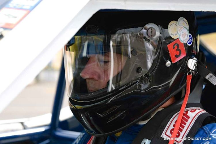 Brian Ferrin behind the wheel of the 1971 AMC Javelin at Portland Historic Races 2015