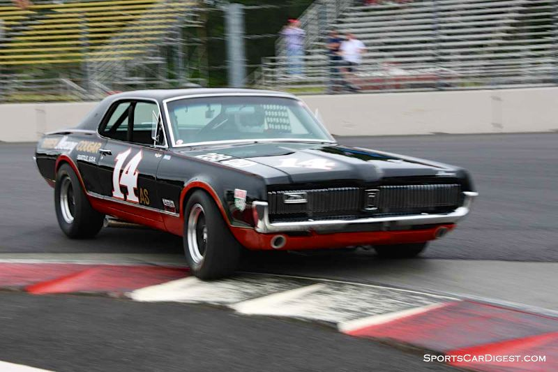 Ike Keeler's 1967 Mercury Cougar at Portland Historic Races 2015