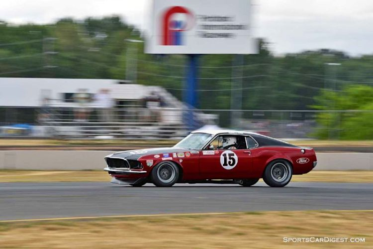 Bill Ockerlund's 1969 Ford Mustang Boss 302 at Portland Historic Races 2015