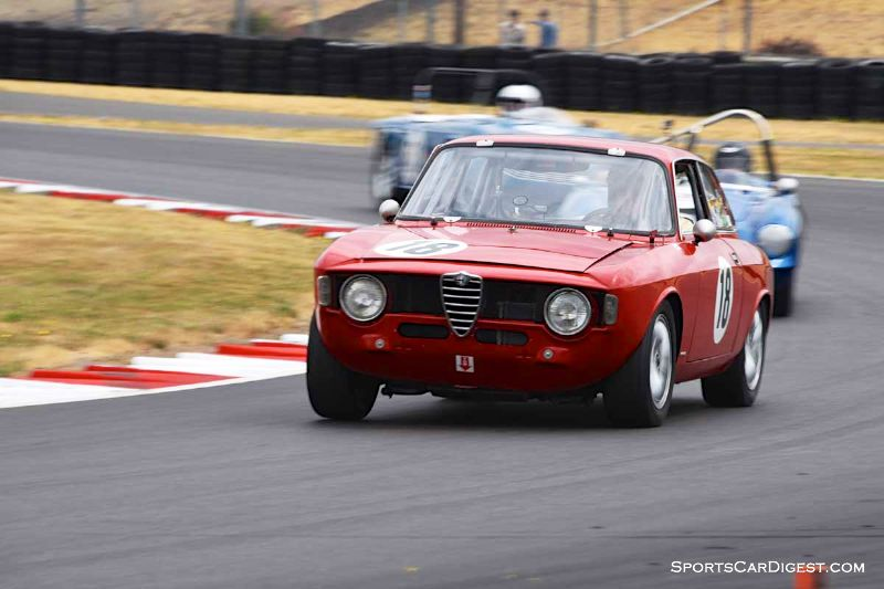 Stephen Chamberlin's 1965 Alfa Romeo Giulia GT at Portland Historic Races 2015