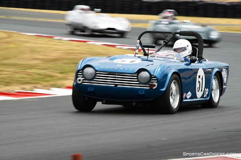 Jeff Quick's 1967 Triumph TR4A at Portland Historic Races 2015