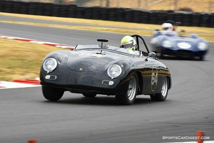 David Hogg's 1956 Porsche 356A Speedster at Portland Historic Races 2015