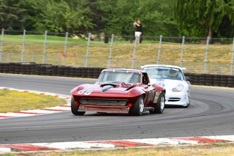 Curt Kallberg's 1967 Chevrolet Corvette during Portland Historic Races 2015