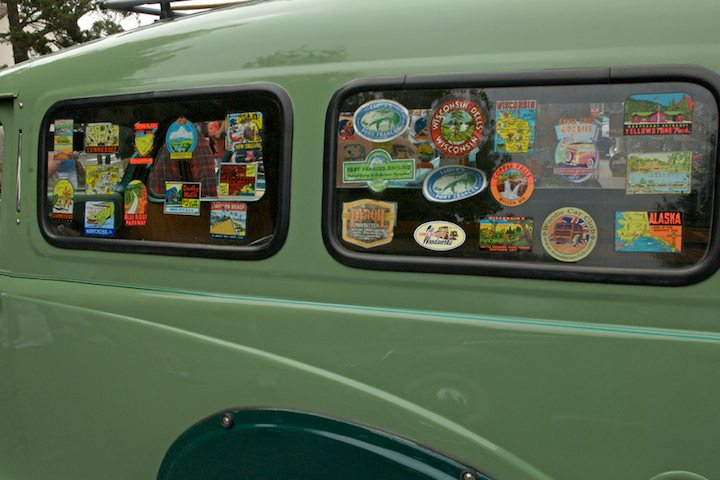 Rear window detail on the 1950 Austin A40 Countryman