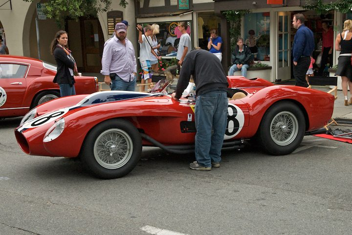 Prepping Jon Shirley's Best of Show 1957 Ferrari 250 Testa Rossa