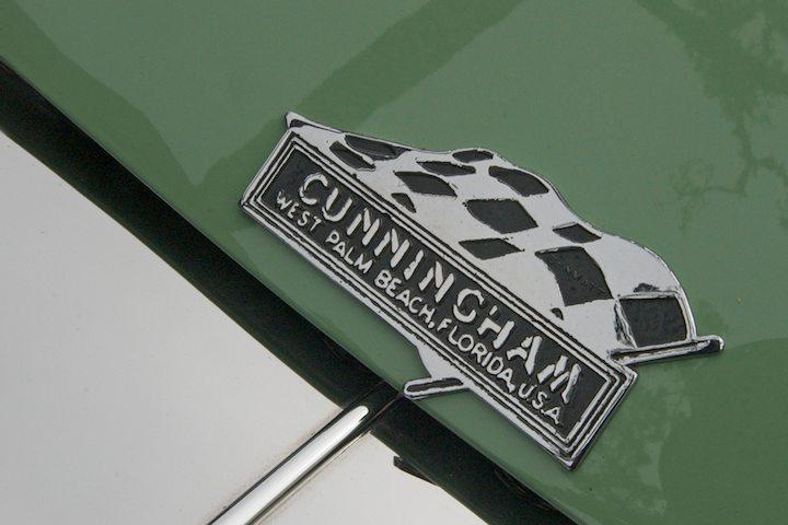 Cunningham C-3 Vignale Coupe hood detail