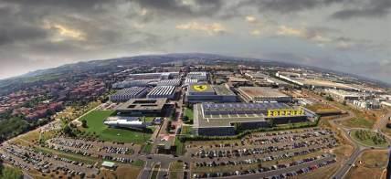 Overview of Ferrari Factory in Maranello, Italy
