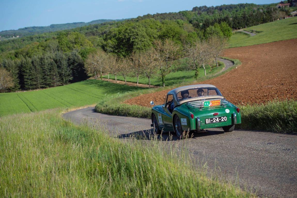 1956 Triumph TR3 - London to Lisbon Rally 2017