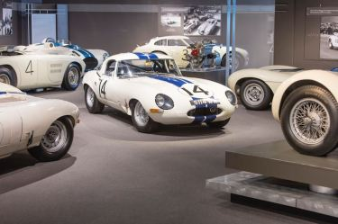 Briggs Cunningham 1963 Jaguar E-Type Lightweight, chassis S850664, at the Collier Collection (photo: Pawel Litwinski)