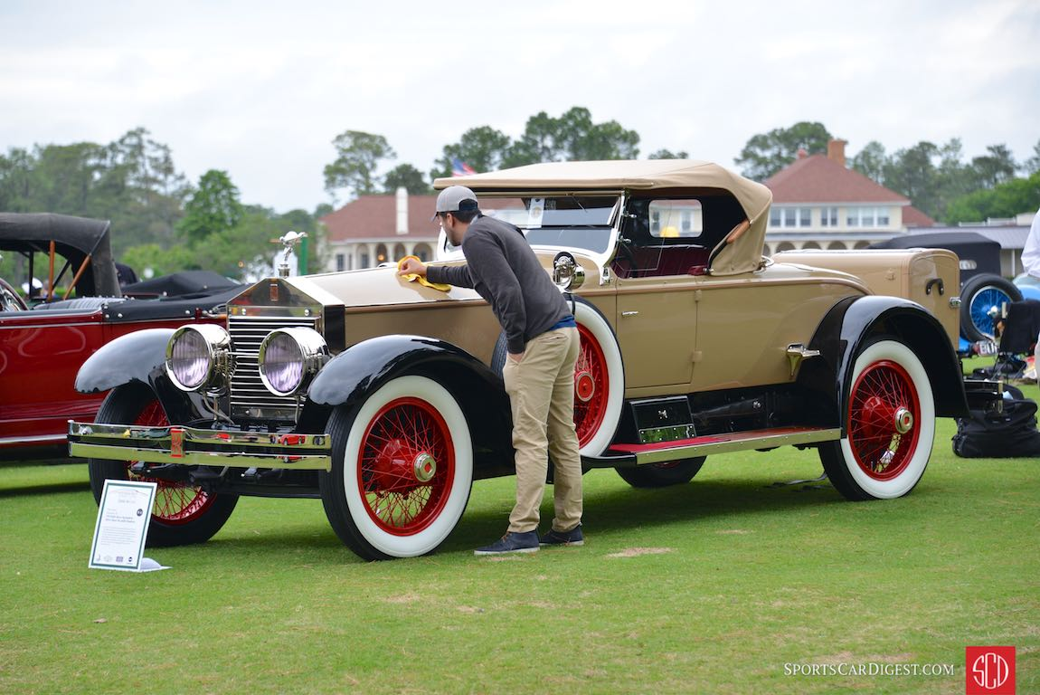 Prepping the Best of Show Winner - 1925 Rolls-Royce Springfield Silver Ghost Piccadilly Roadster