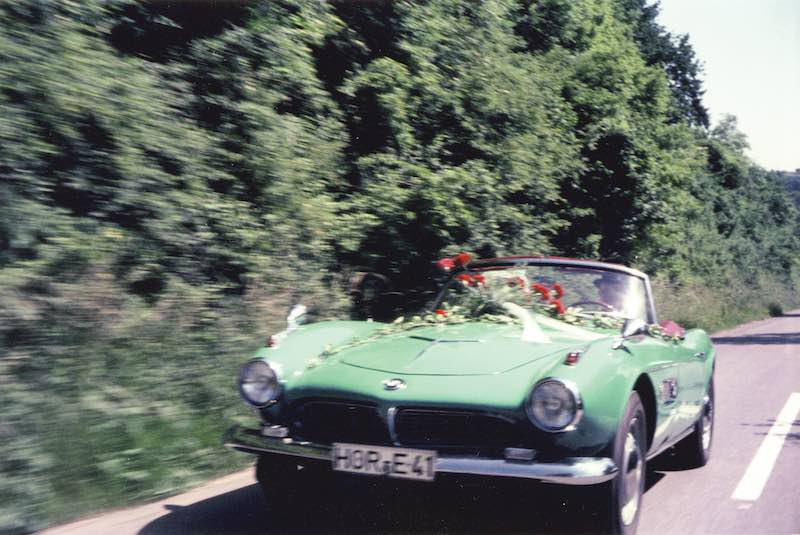 Herman Beliharz as seen in his 507 on his wedding day.