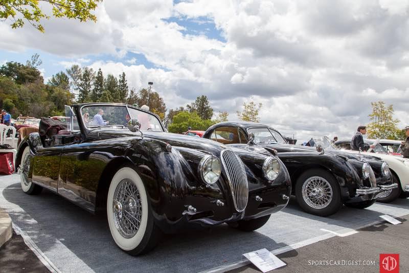 (L-R) 1953 Jaguar XK 120 MC, 1953 Jaguar XK-120