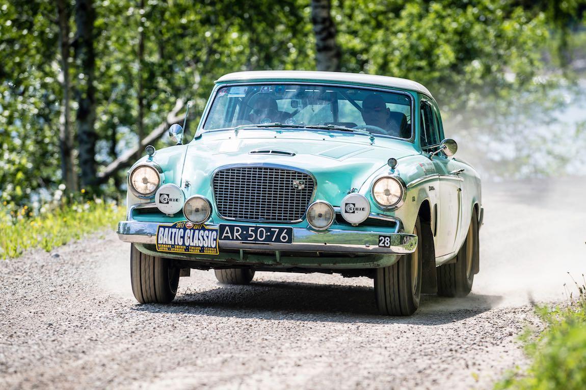 Baltic Classic 2017. Day 02 Gothenburg - Karlstad, Car 28. Jesse Smaal(NL) / Jack Boers(NL) 1956 Studebaker Power Hawk