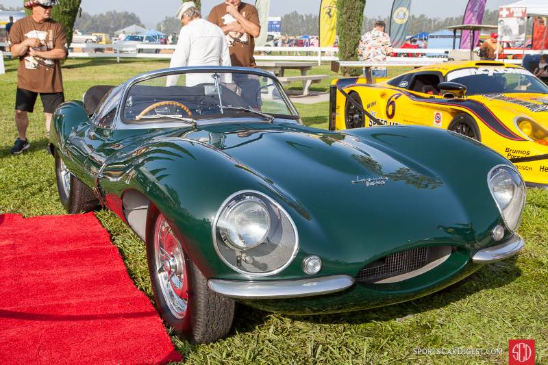 The 1956 Jaguar XKSS owned by Steve McQueen.