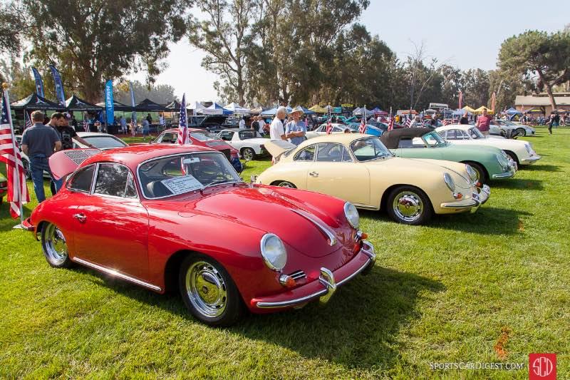 (L-R) 1965 Porsche 356 SC, 1962 Porsche 356B S Coupe
