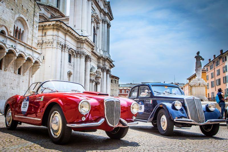1955 Lancia Aurelia B24 Spider and 1937 Lancia Aprilia