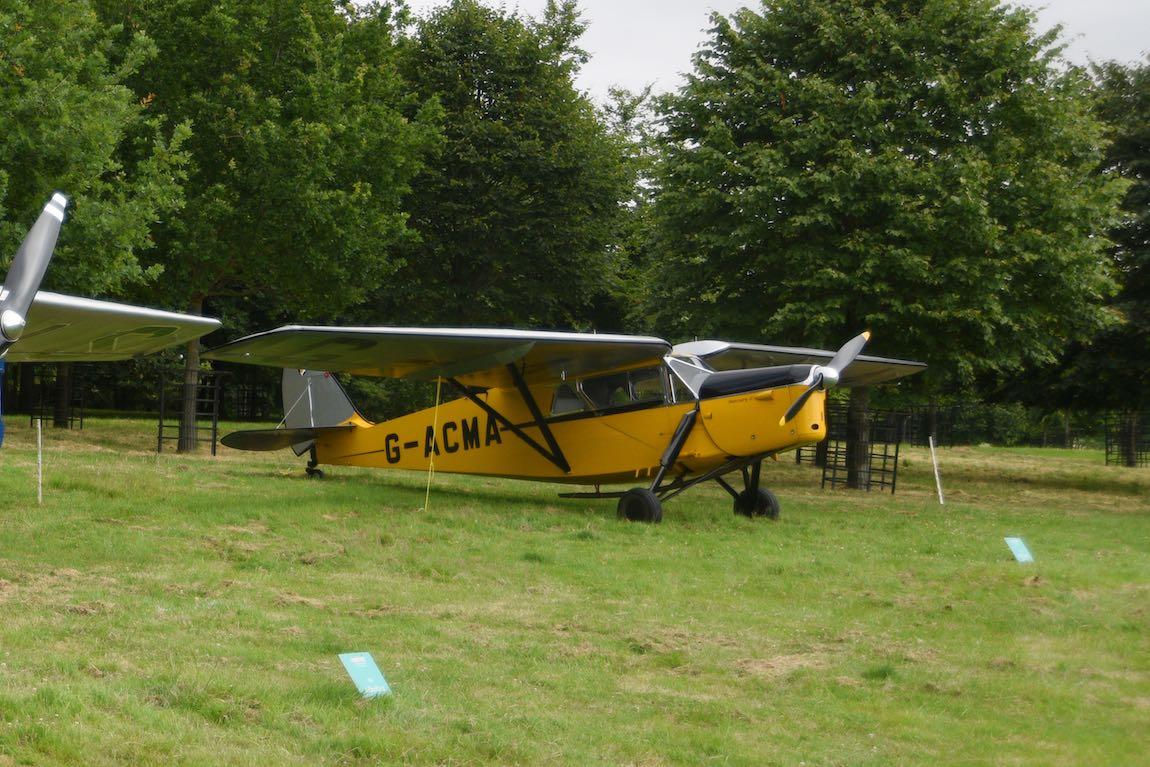 1934 De Havilland Leopard Moth G-ACMA at Heveningham Hall Concours d'Elegence 2017. Credit Rufus Owen