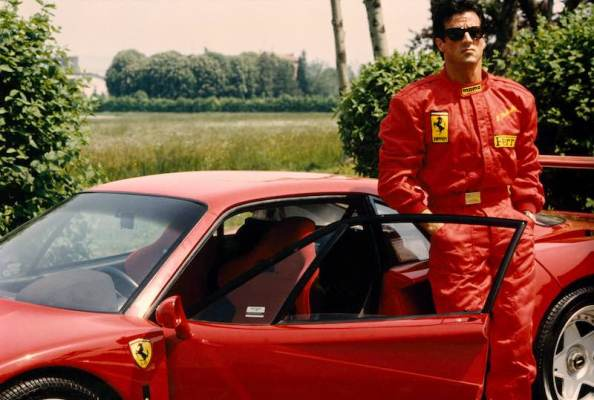 Sylvester Stallone at Fiorano (1990)