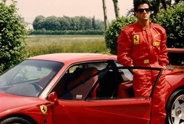 Sylvester Stallone at Fiorano (1990)