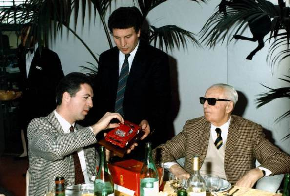 Enzo and Piero Ferrari in 1987