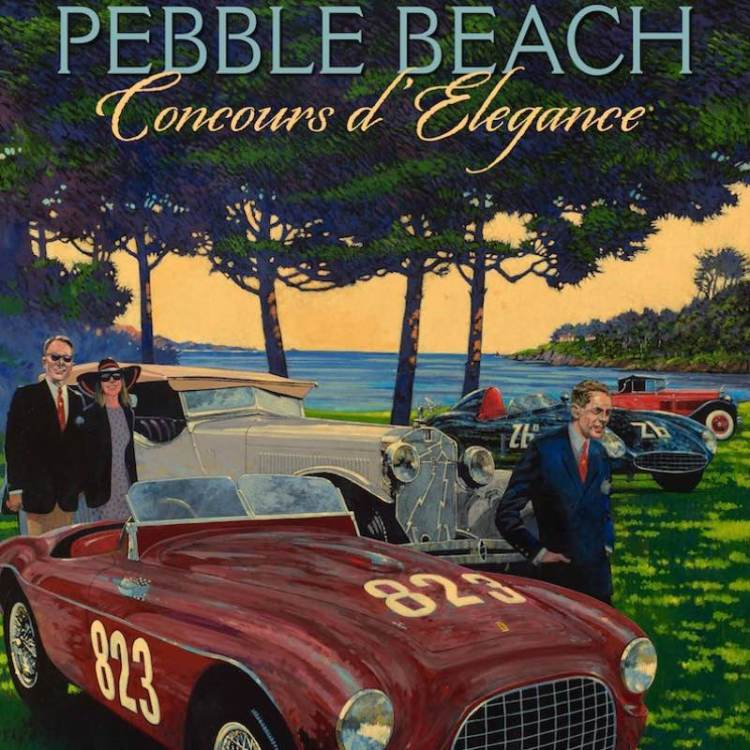 2017 Pebble Beach Concours Poster Art