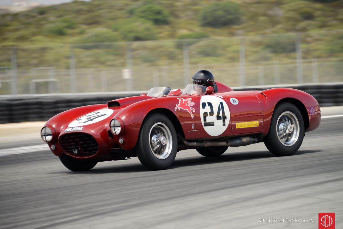 Peter Giddings exits turn eleven Saturday afternoon in his 1953 Lancia D24/5