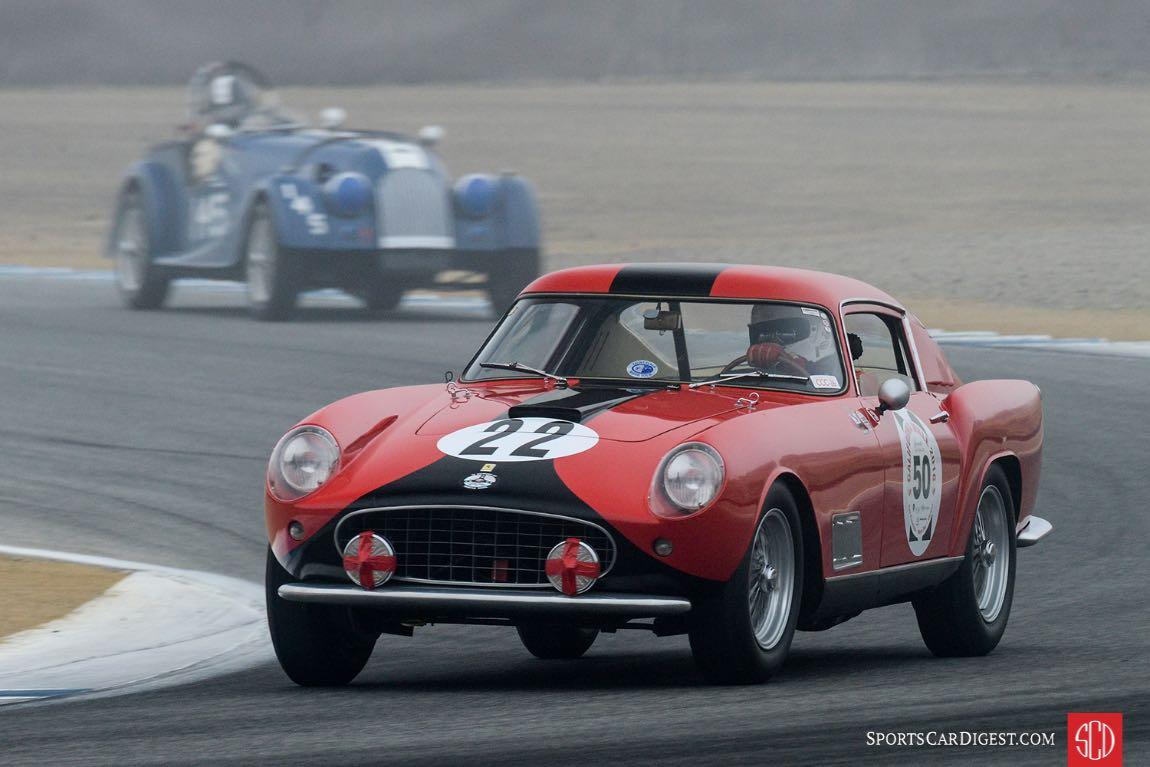 Robert Bodin's 1958 Ferrari Tour De France in turn three.