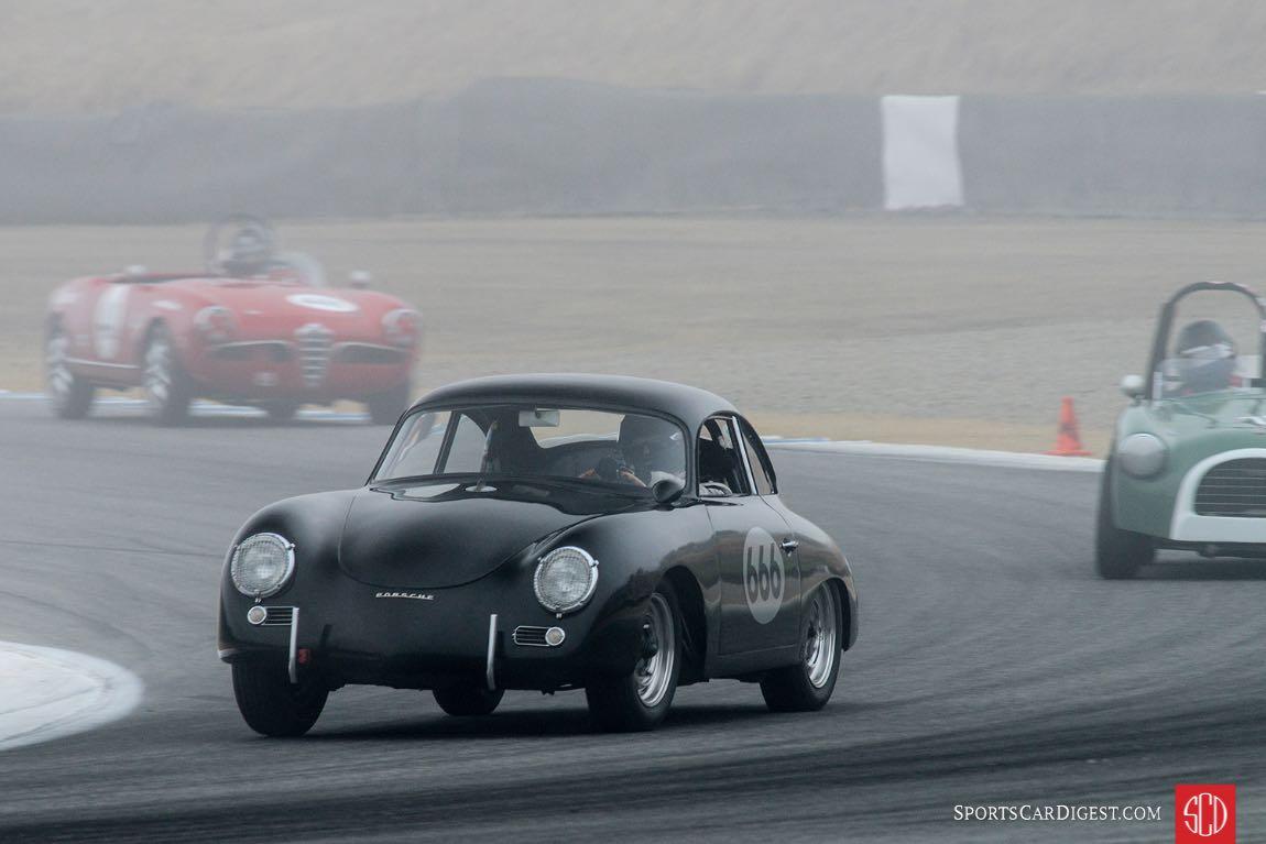 Marc Hugo in his Porsche 356.