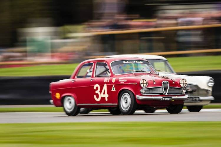 Steve Soper and Richard Meaden, 1959 Alfa Romeo Giulietta Ti at the Goodwood Revival - Photo: Drew Gibson