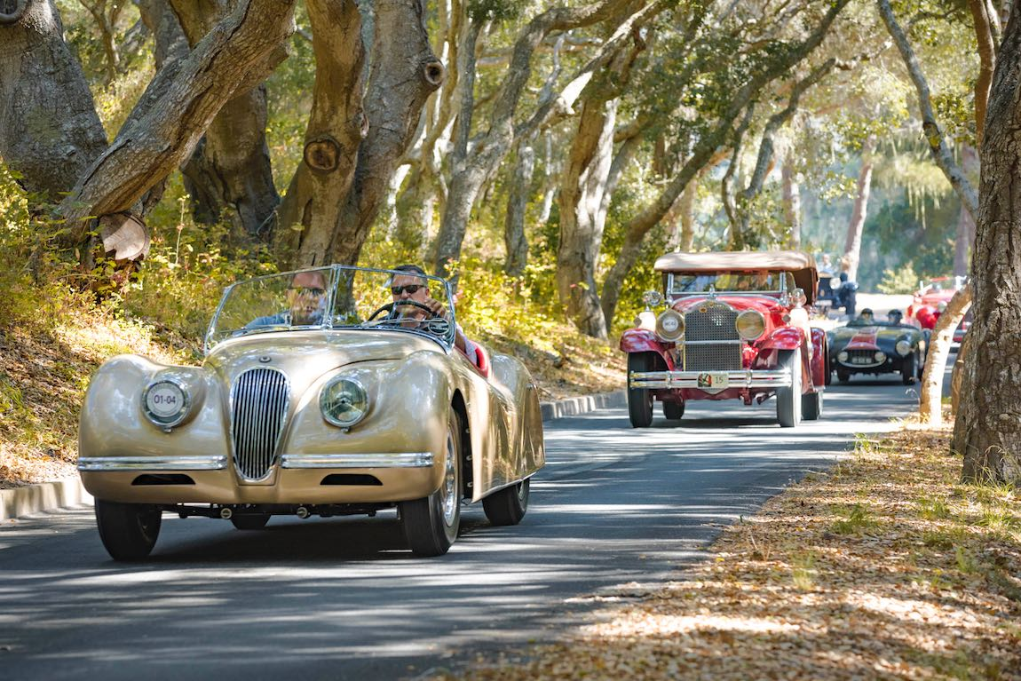1952 Jaguar XK120 Barris Roadster en route to Tehama during 2017 Pebble Beach Tour d'Elegance