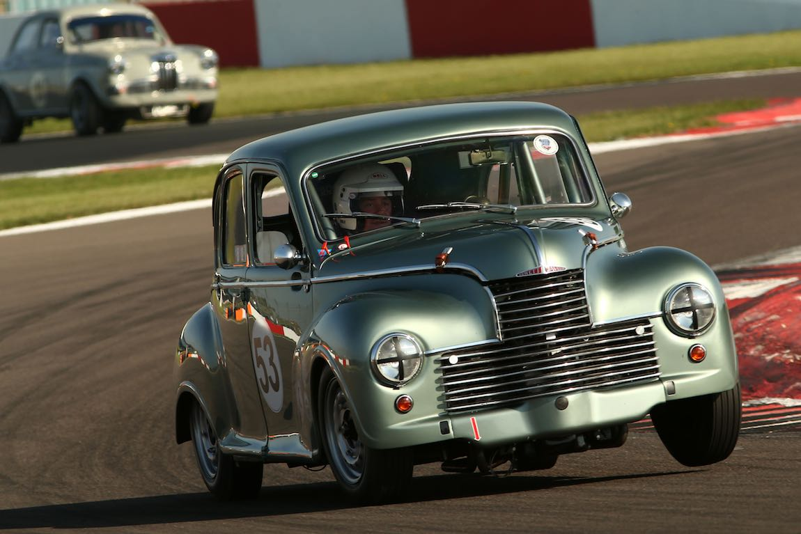 Jowett Javelin action in the HRDC Touring Greats at DHF 2018 - image Jakob Ebrey Photography