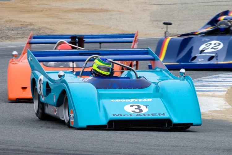Rick Knoop's 1972 McLaren M8F in turn elven.