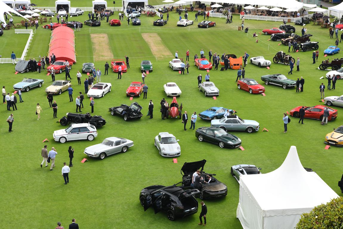 London Concours aerial view