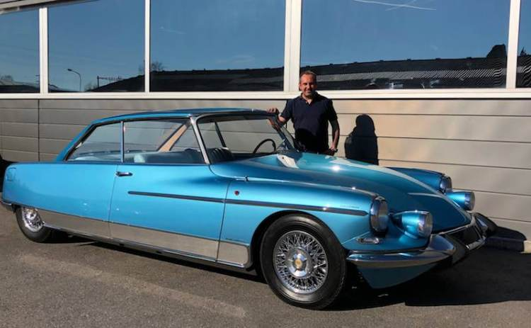 1966 Citroen DS 21 Chapron Le Leman Coupe with restorer Vincent Crescia.