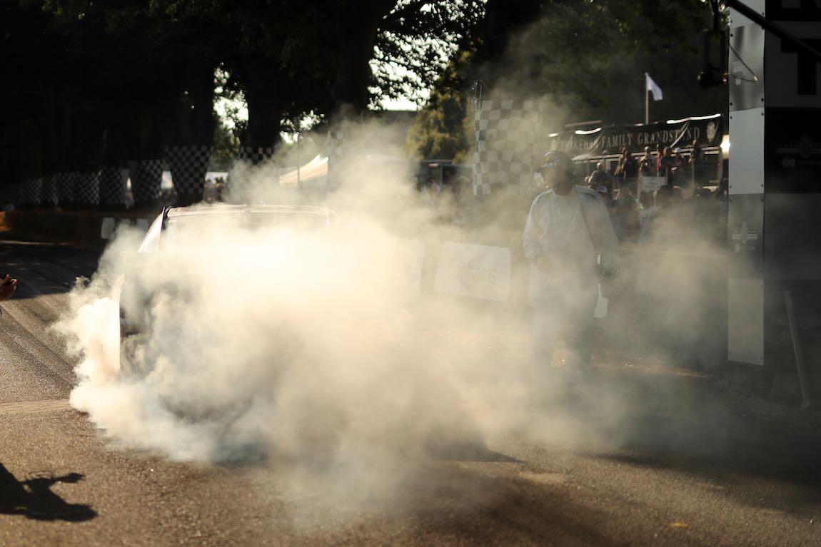 NASCAR burnout - 2018 Goodwood Festival of Speed