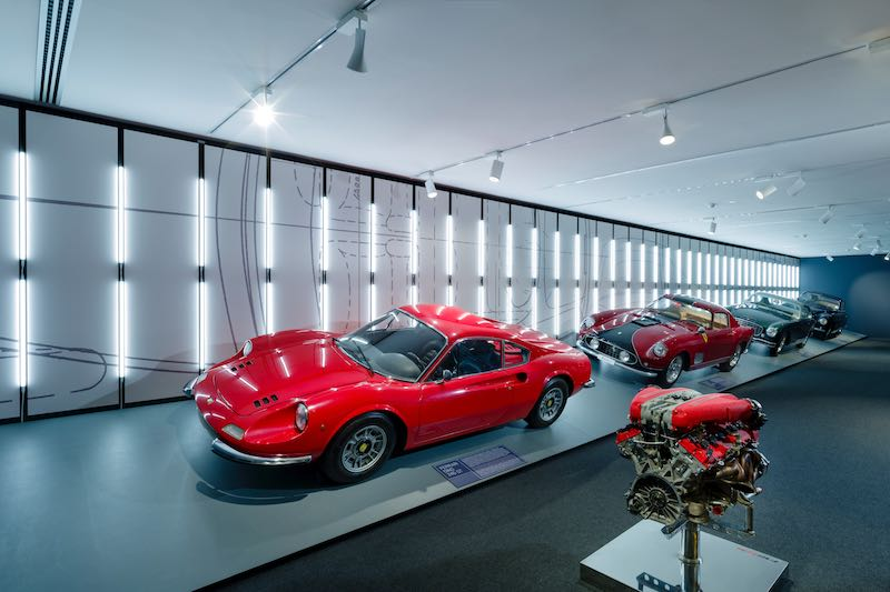 Passion and Legend exhibit at Ferrari Museum