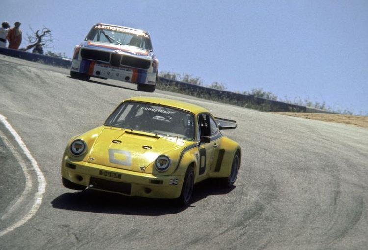 IMSA Porsche 911 Carrera RSR and BMW CLS at Laguna Seca