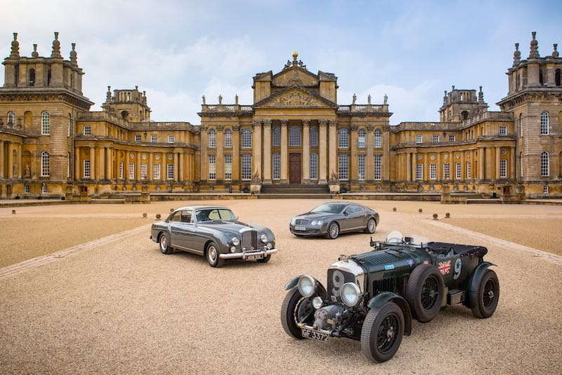 Bentley Display at Blenheim Palace - courtesy BDC