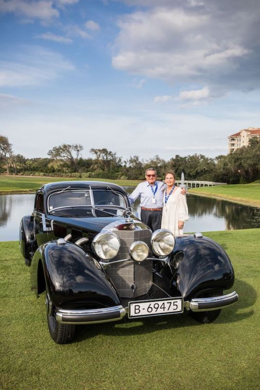 1938 Mercedes-Benz 540K Autobahn-Kurier, Best of Show Concours d'Elegance at the 2019 Amelia Island Concours